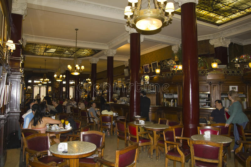 Cafe Tortoni, Buenos Aires, Argentina. royalty free stock images