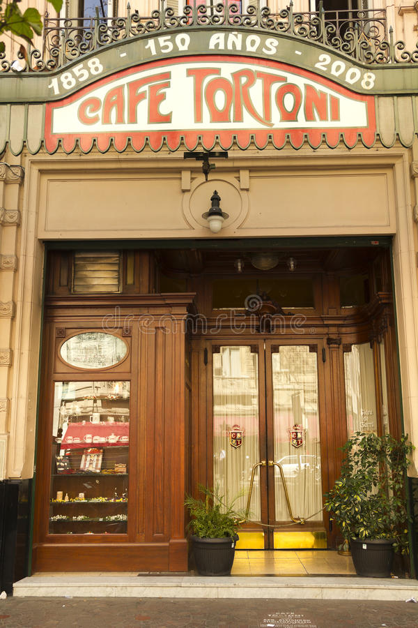 Cafe Tortoni, Buenos Aires, Argentina. royalty free stock photo