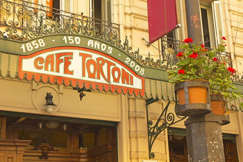 Cafe Tortoni, Buenos Aires, Argentina. Cafe Tortoni, in May avenue, Buenos Aires, Argentina. Café Tortoni is the oldest coffee most famous Buenos Aires stock photography