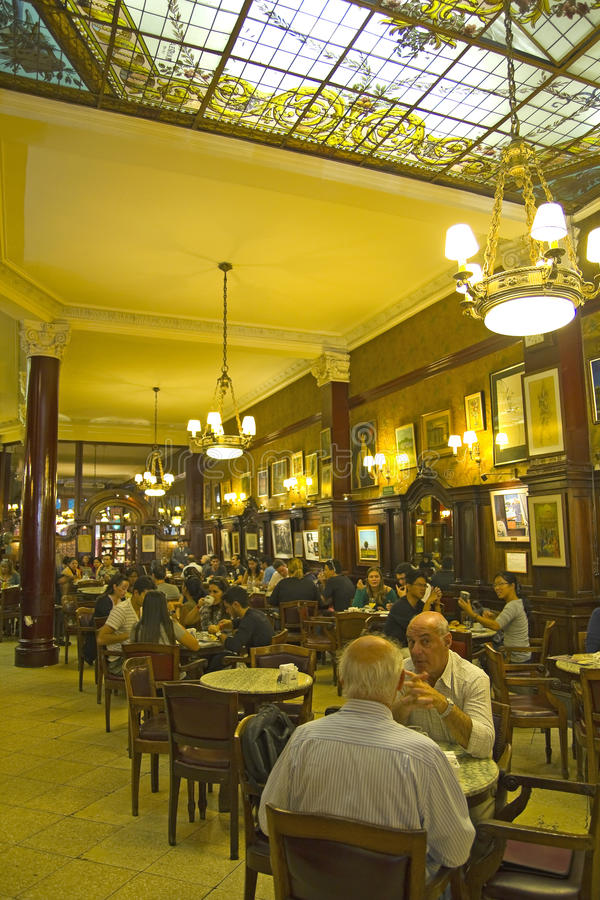 Cafe Tortoni, Buenos Aires, Argentina. stock images