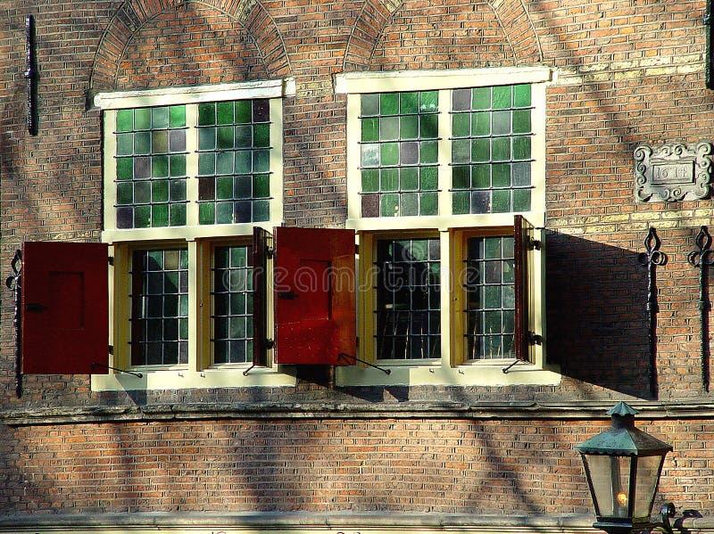 cafe view window arkivfoton