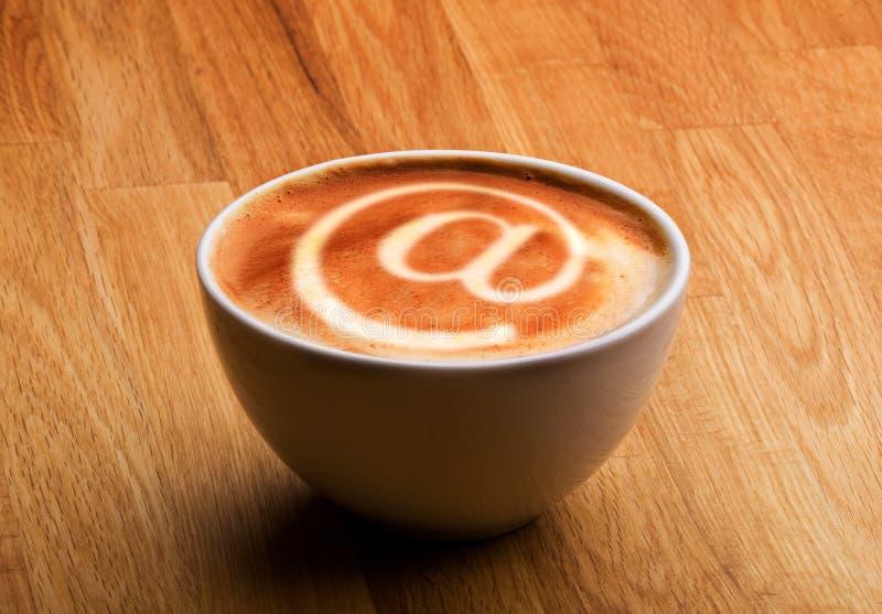 cafebegreppsinternet royaltyfria foton