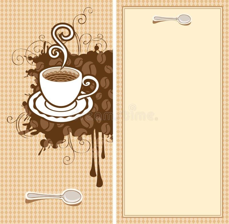 cafedesign vektor illustrationer