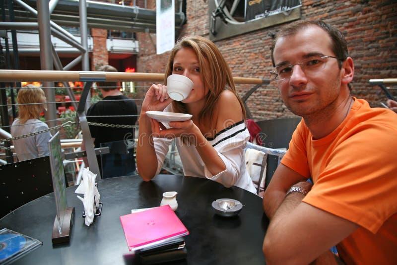 cafepar royaltyfria foton