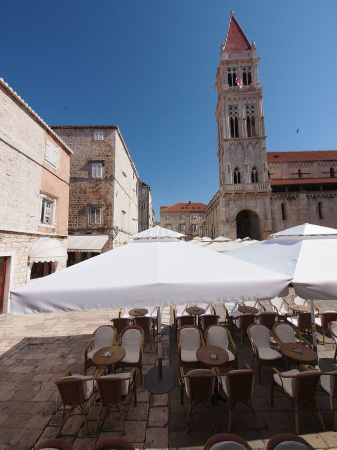 Cafes At Trogirs Ivana Pavla Main Square Royalty Free Stock Photos