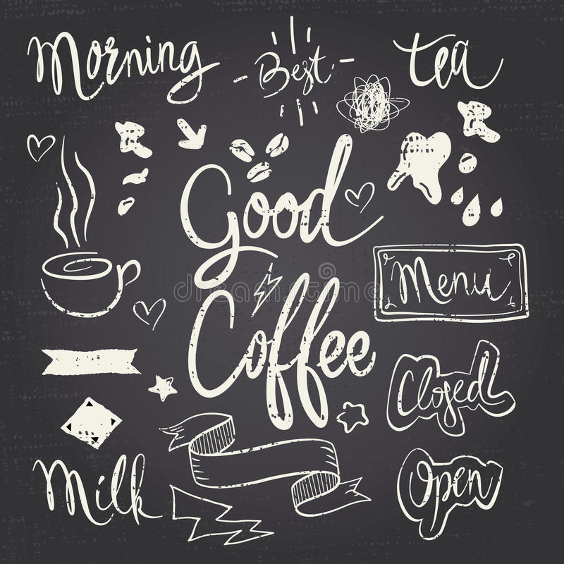CafeSet royalty ilustracja