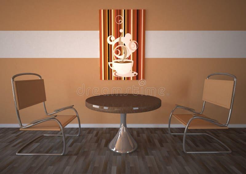 Cafetaria stock illustratie