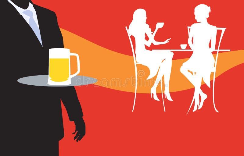 Cafetaria vector illustratie