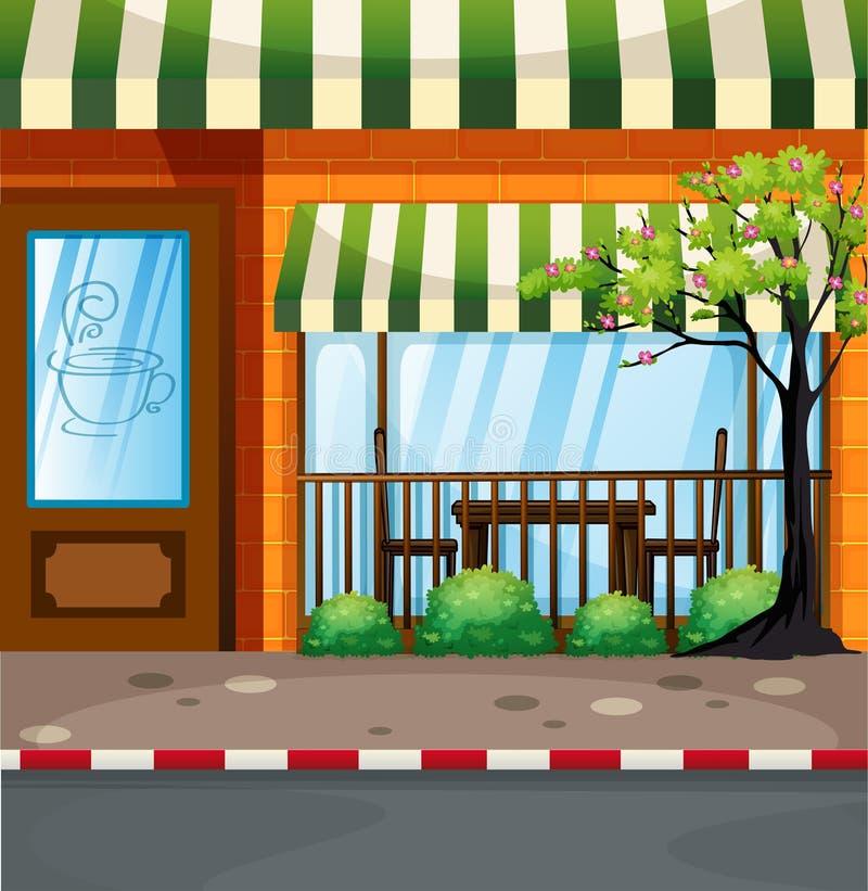 Cafetaria na rua ilustração do vetor