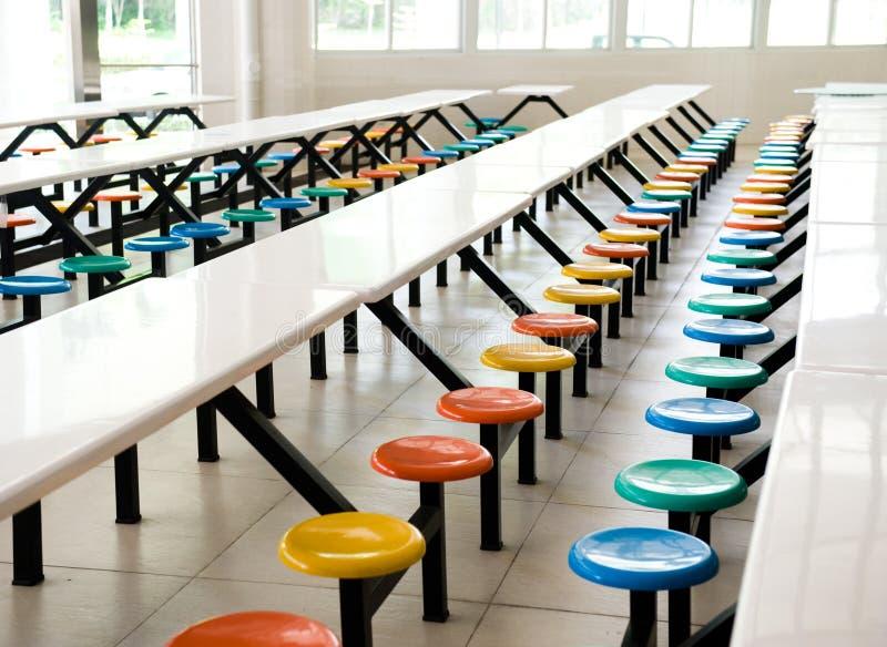 Cafetería de escuela imagen de archivo libre de regalías