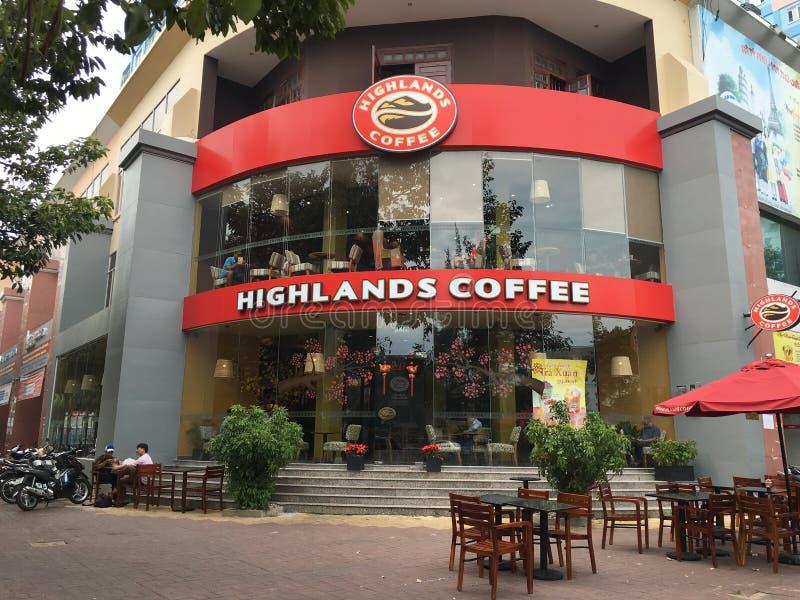 Cafetería de las montañas en Vung Tau, Vietnam imagen de archivo libre de regalías