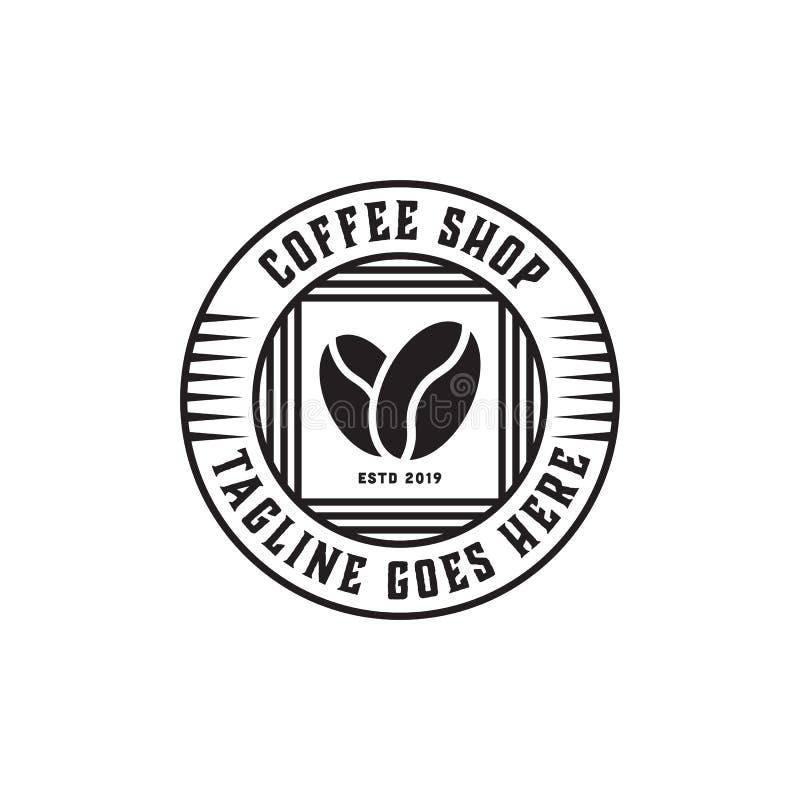 Cafetería superior Logo Inspiration, vintage, rústico y retro stock de ilustración