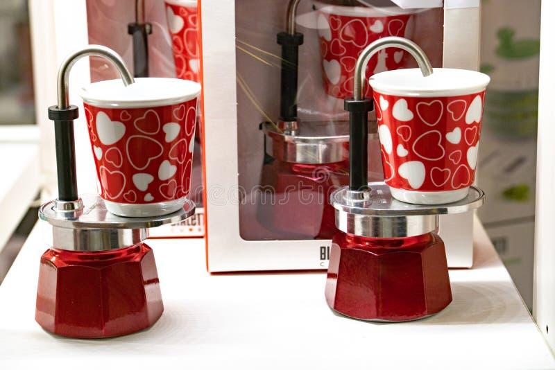 Cafetera de Bialetti Mini Express fotografía de archivo