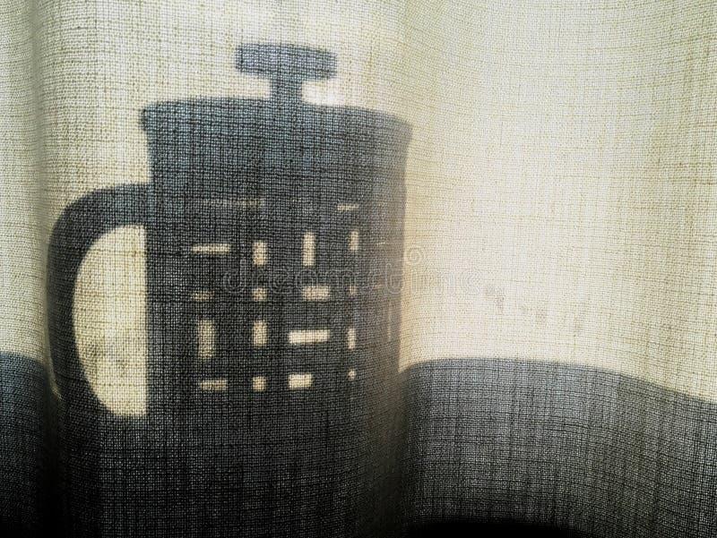 Cafetera de la sombra fotografía de archivo libre de regalías