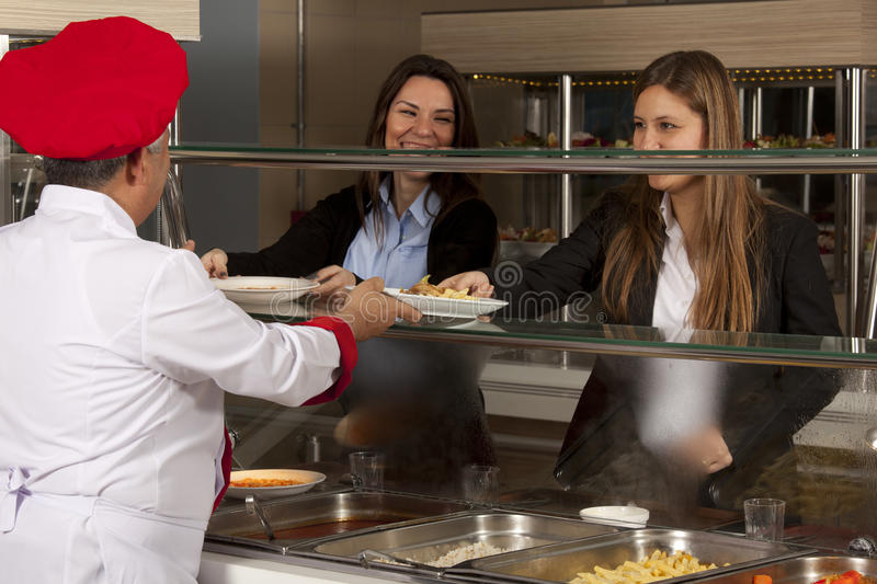 Cafeteria stock photography