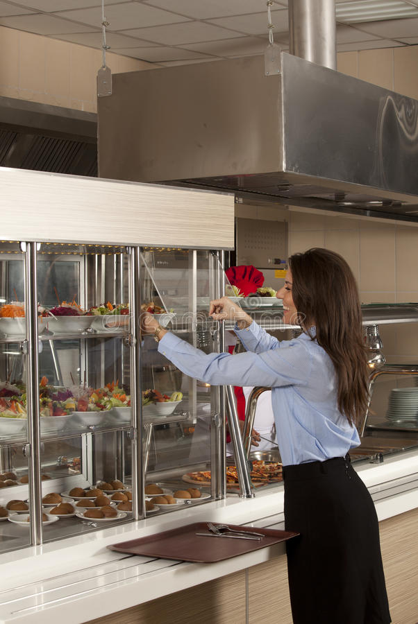 Cafeteria stock images