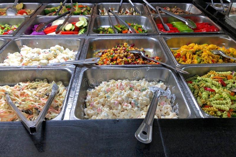 Cafeteria Deli Food Trays stockbilder