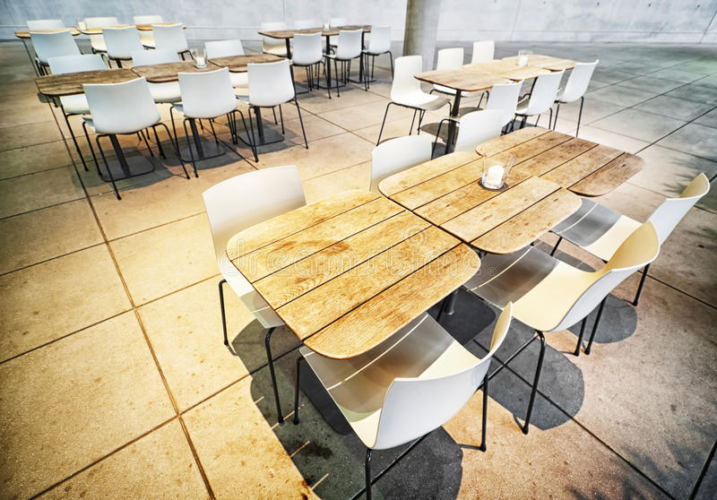 Cafeteria. Modern, empty cafeteria indoors - photo stock photos