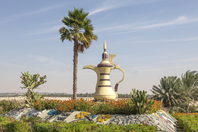 Cafetière Arabe dans Mezairaa, EAU photographie stock libre de droits