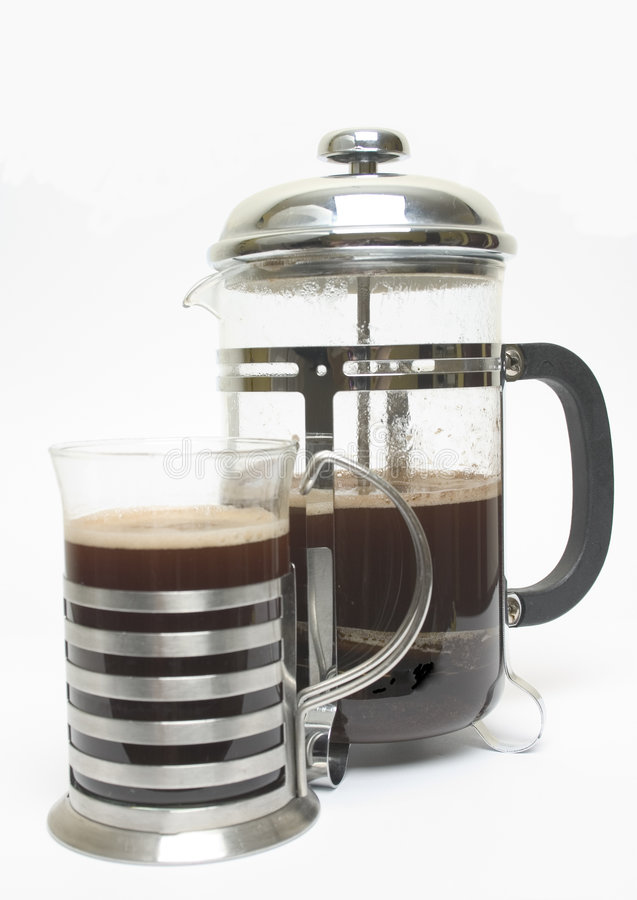 Download Cafetiere and mug stock image. Image of press, drink, shiny - 117771
