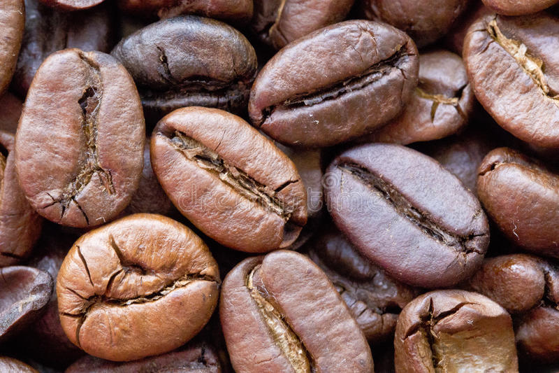 Caffè in chicchi fotografie stock libere da diritti