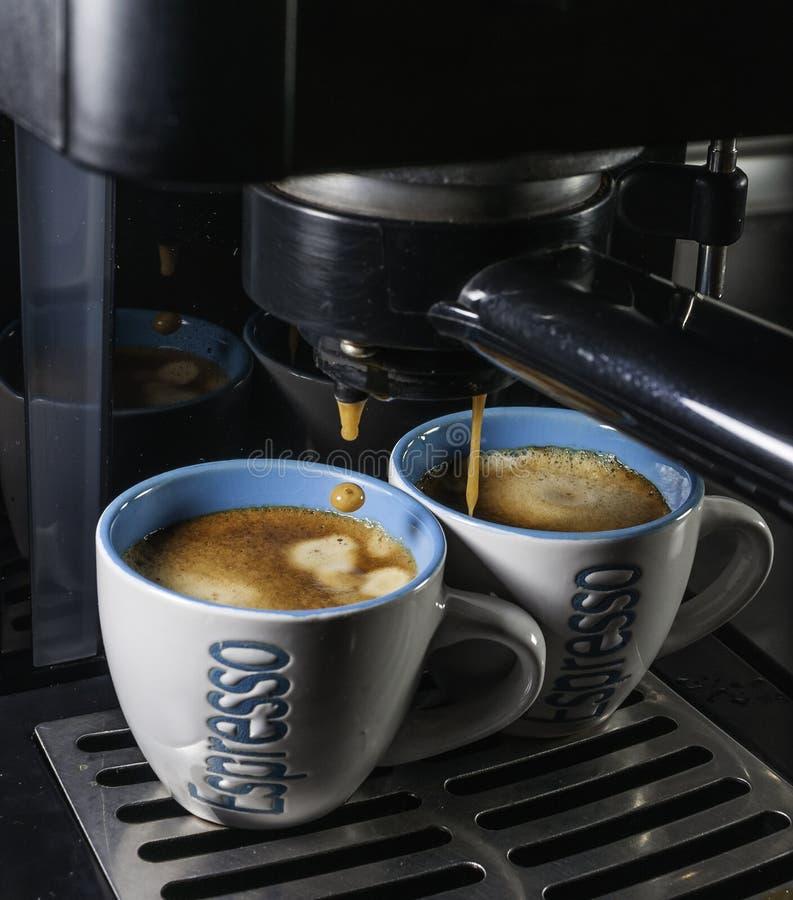 Caffè kawa espresso w tazzina obraz stock