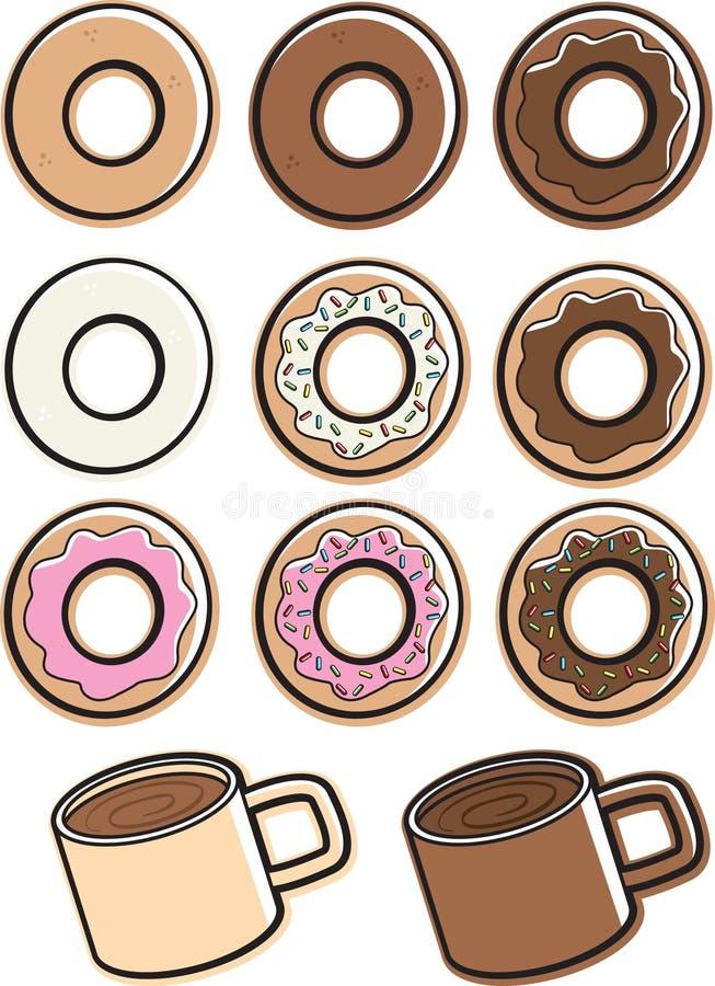 Caffè & guarnizioni di gomma piuma royalty illustrazione gratis