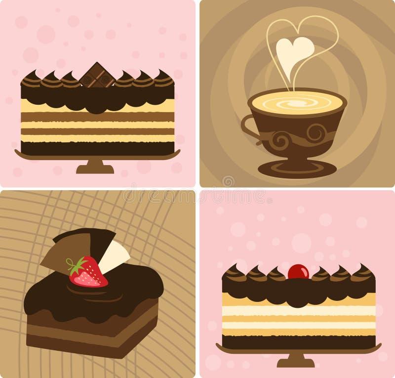 Caffè & torta illustrazione vettoriale