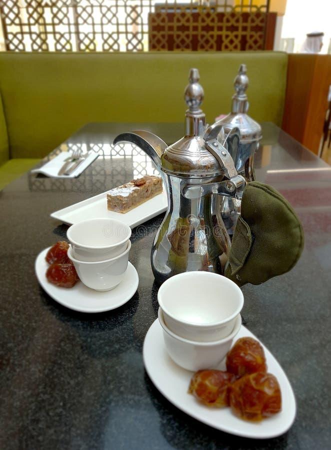Caffè in arabo nel caffè fotografia stock