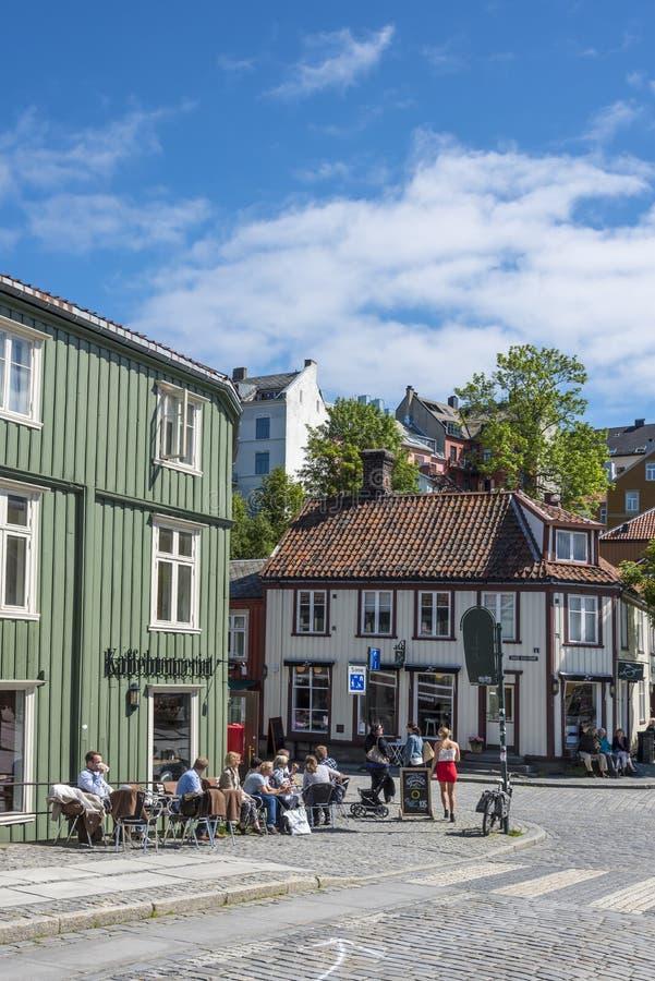 Caffè Bakklandet Trondeim fotografia stock
