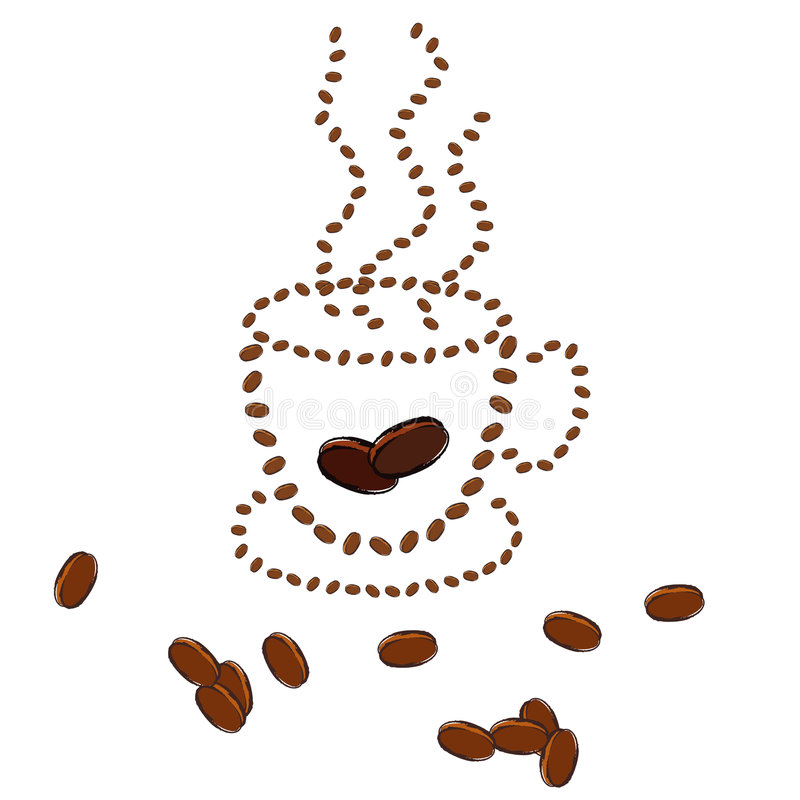 Caffè caldo   illustrazione vettoriale