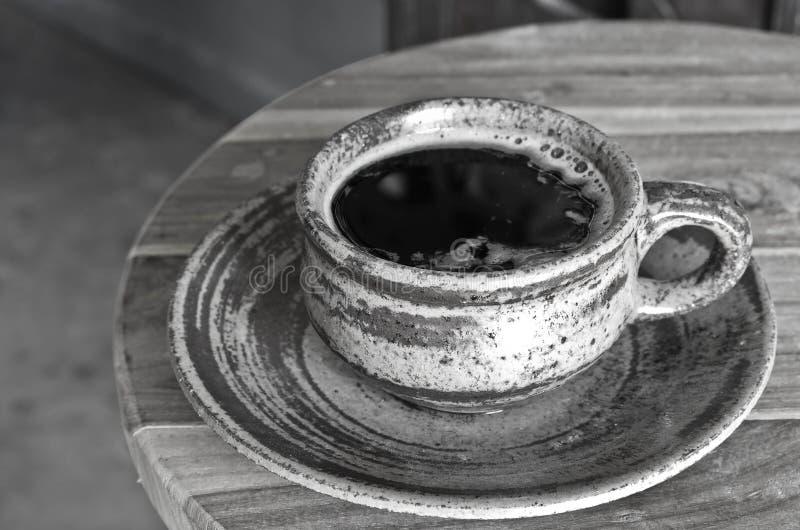 Caffè caldo in bianco e nero immagini stock libere da diritti