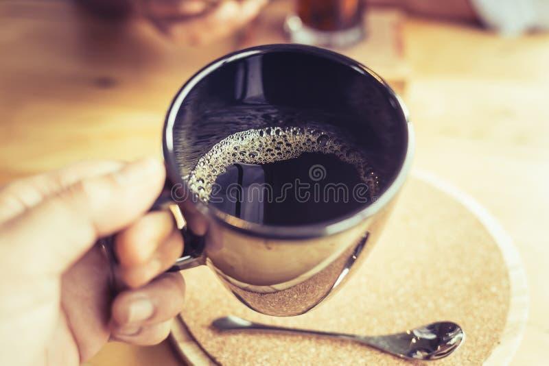 Caffè caldo del nero della bevanda fotografia stock