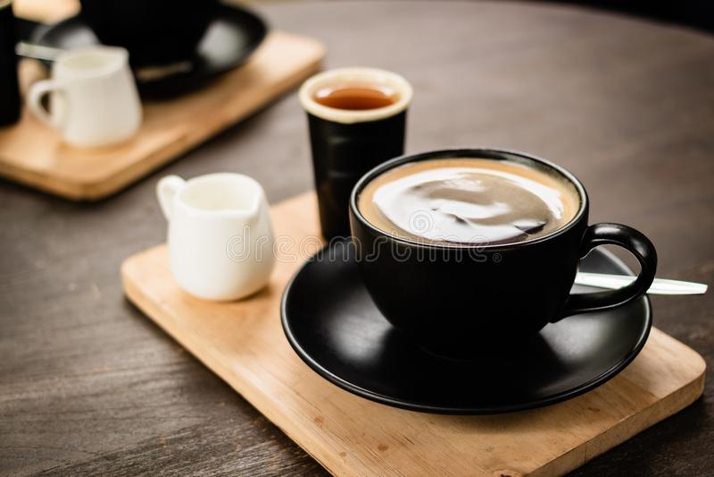Caffè caldo di americano immagini stock