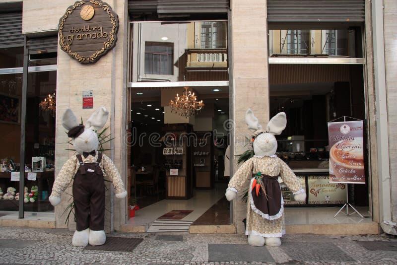 Caffè Chocolatier Gramado a Sao Paulo, Brasile fotografia stock libera da diritti