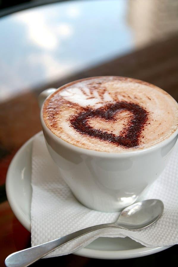 Caffè con amore fotografia stock