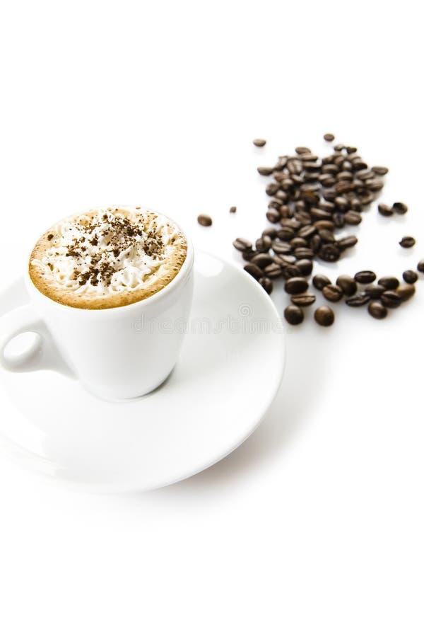 Caffè con crema immagini stock