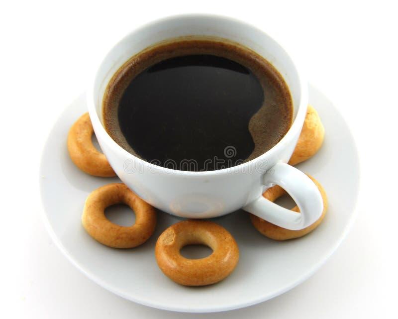 Caffè con i bagel fotografia stock libera da diritti