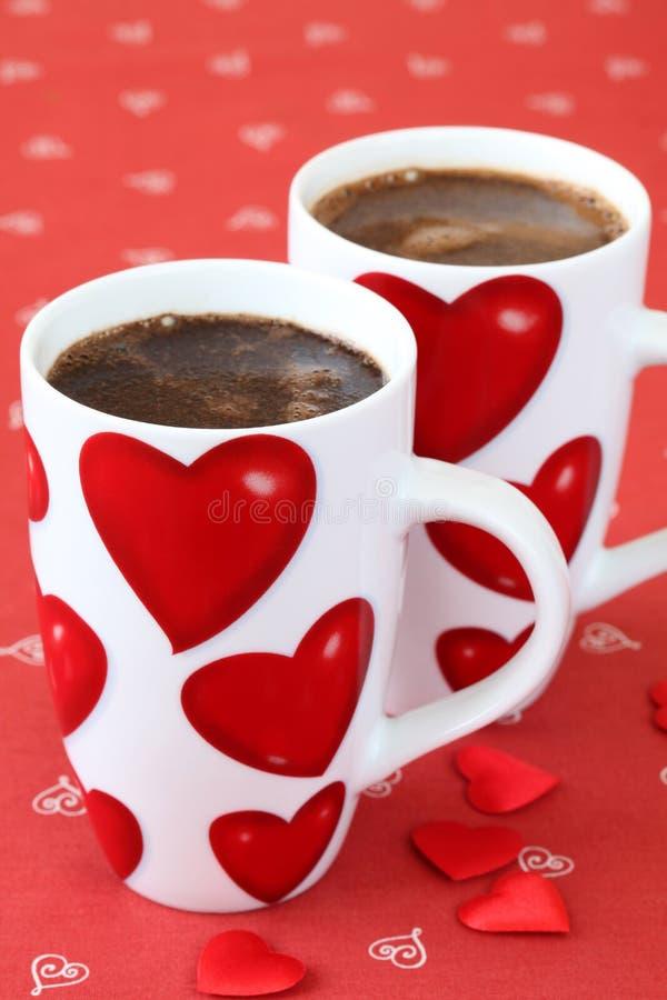 Caffè con i cuori immagine stock libera da diritti