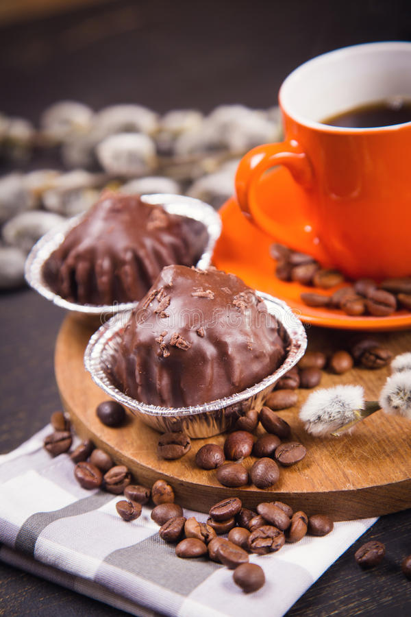 Caffè con i dolci immagini stock libere da diritti