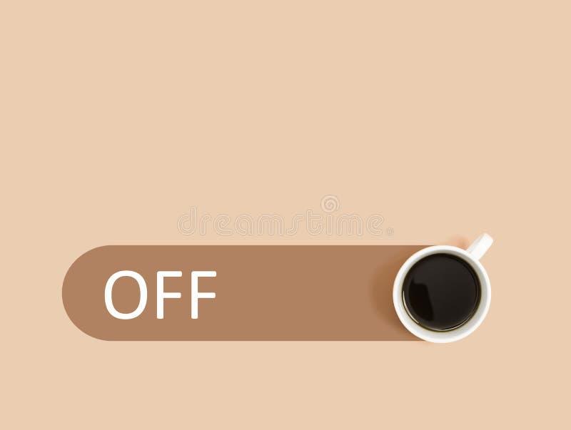 Caffè con il commutatore spento illustrazione vettoriale