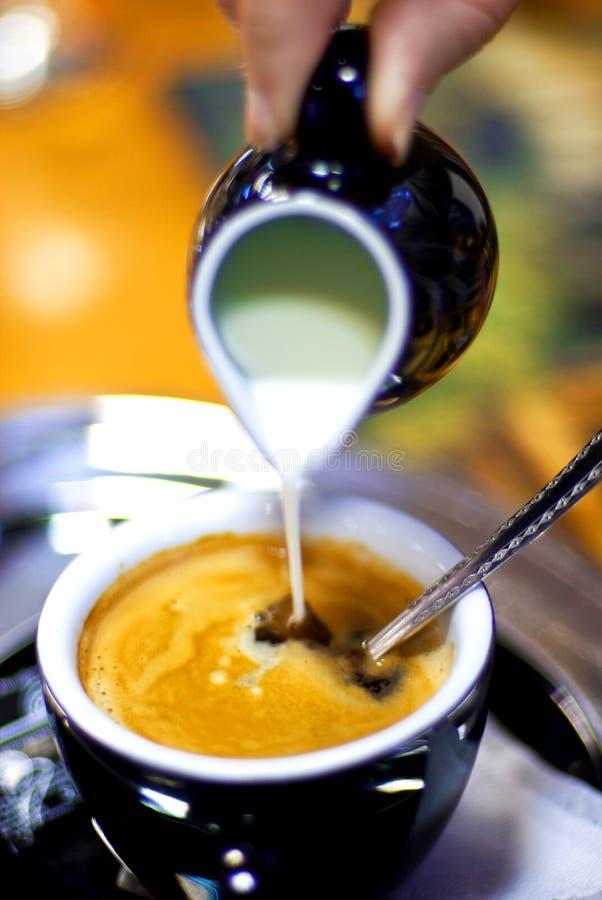 Caffè con latte fotografia stock