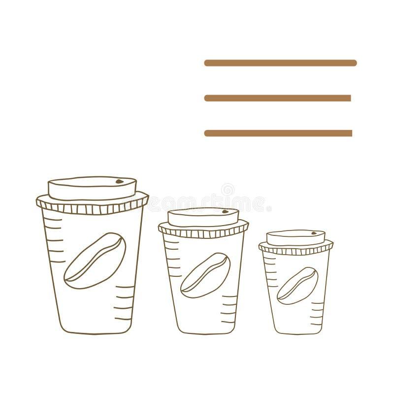 Caffè da andare fotografie stock libere da diritti