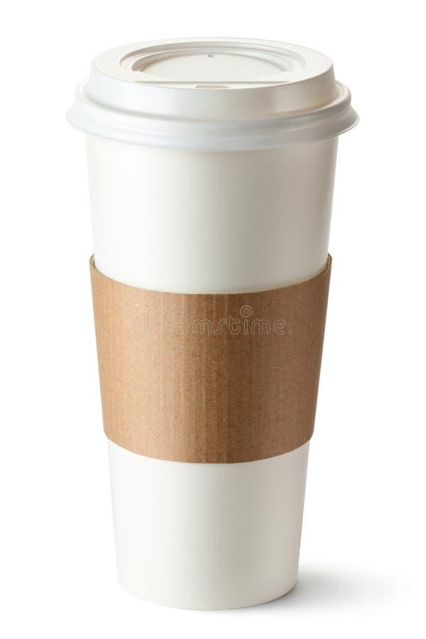 Caffè da portar via con il supporto di tazza fotografia stock