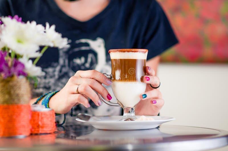 Caffè del Cappuccino time immagini stock libere da diritti