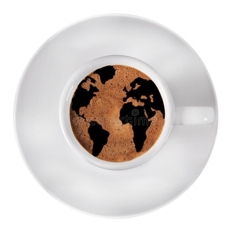 Caffè del mondo fotografie stock libere da diritti
