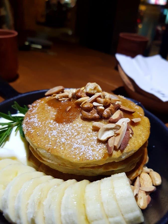 Caffè del pancake fotografie stock