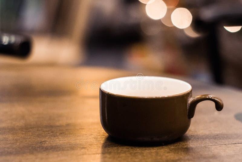 Caffè dell'angolo della tazza di caffè immagini stock