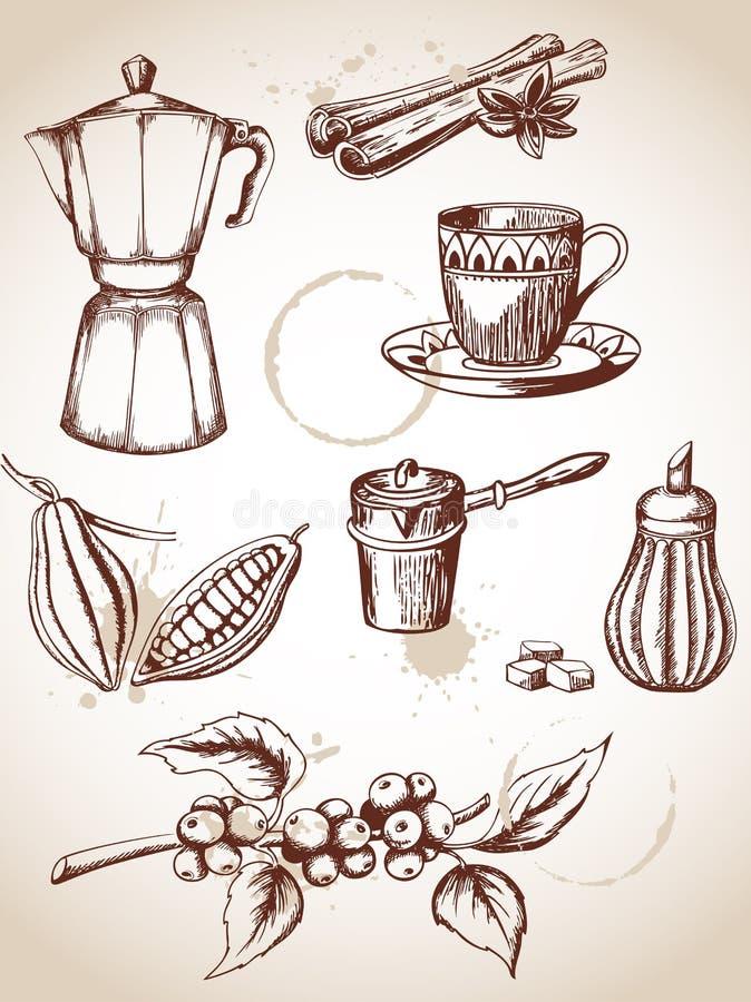 Caffè dell'annata illustrazione vettoriale