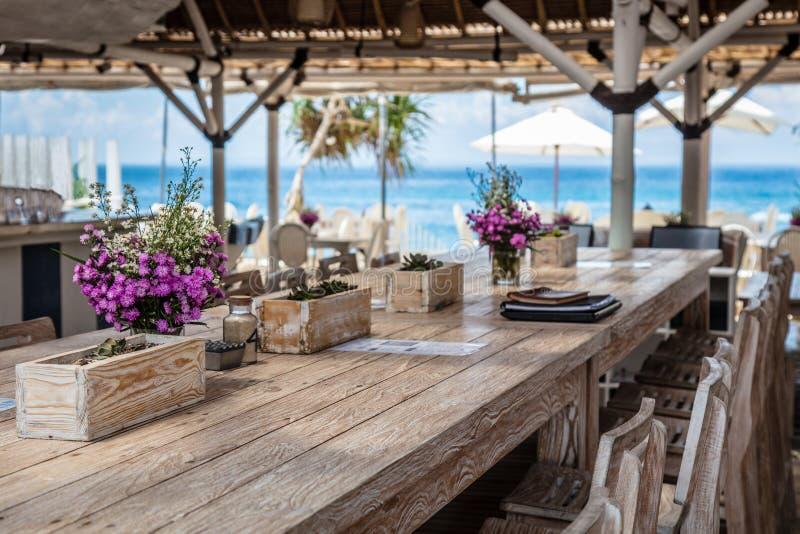 Caffè della spiaggia, Nusa Lembongan, Indonesia immagini stock